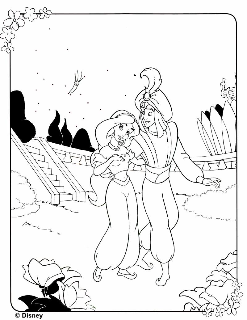 Colorear Aladino cuatro   CIBERCUENTOS