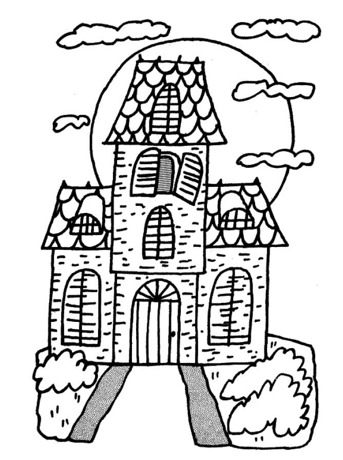Decorar Casa Para Halloween   Dibujos Para Colorear   AColorear