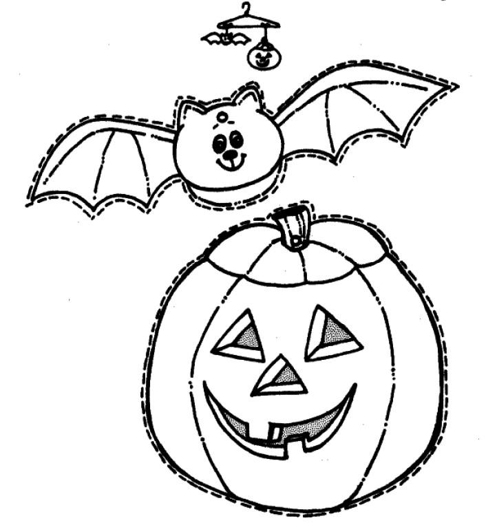Colorea halloween 2 cibercuentos - Calabaza halloween para colorear ...