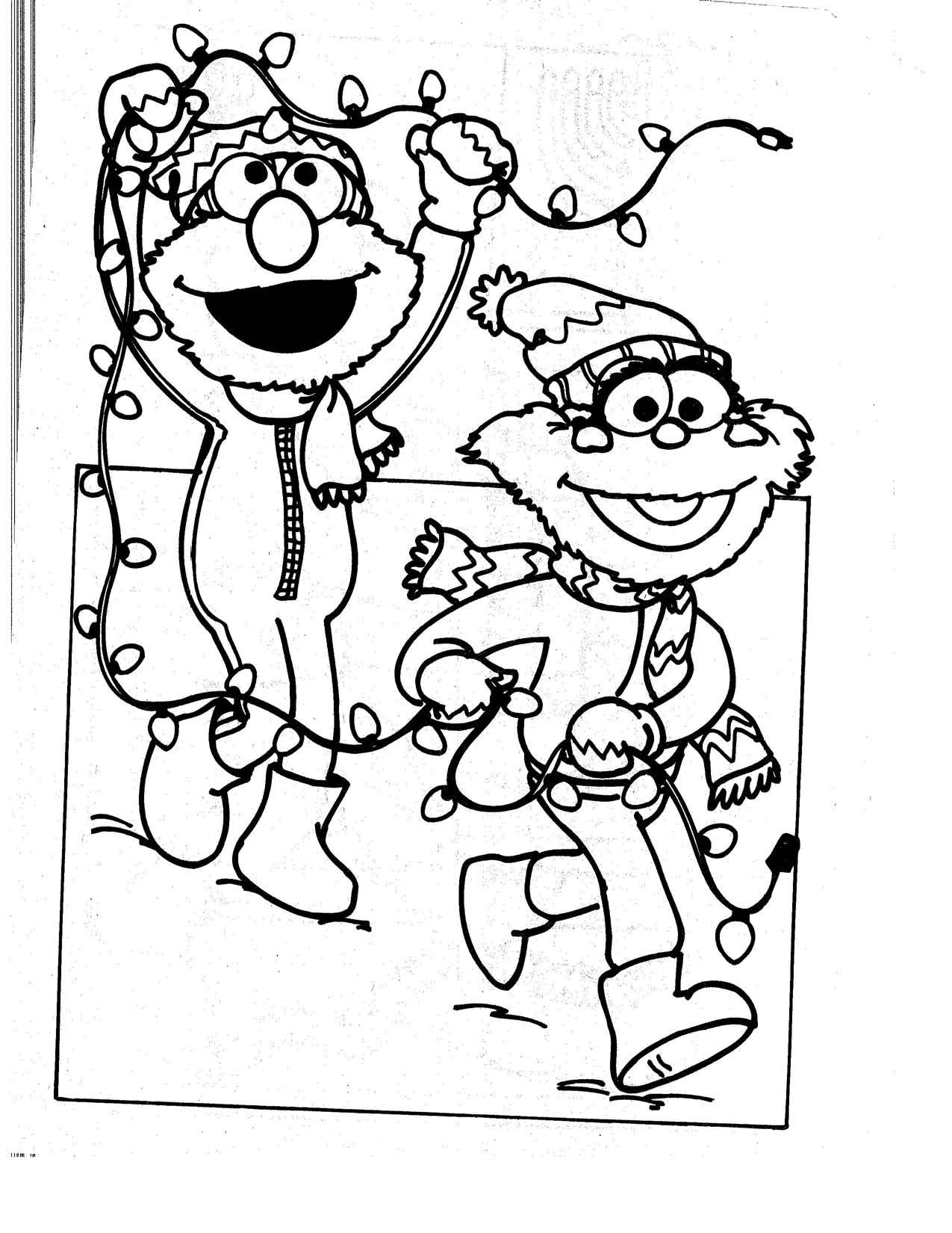 Perfecto Monstruo Alta Navidad Para Colorear Motivo - Dibujos Para ...