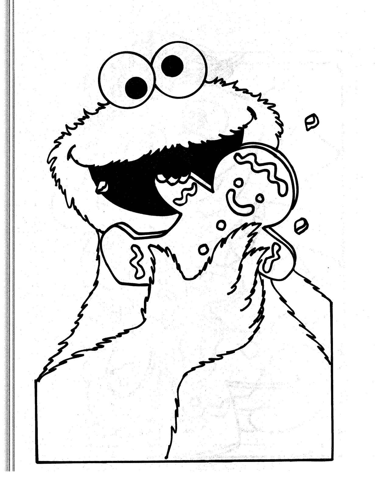 Triqui, el monstruo de las galletas comiendose galleta típica ...