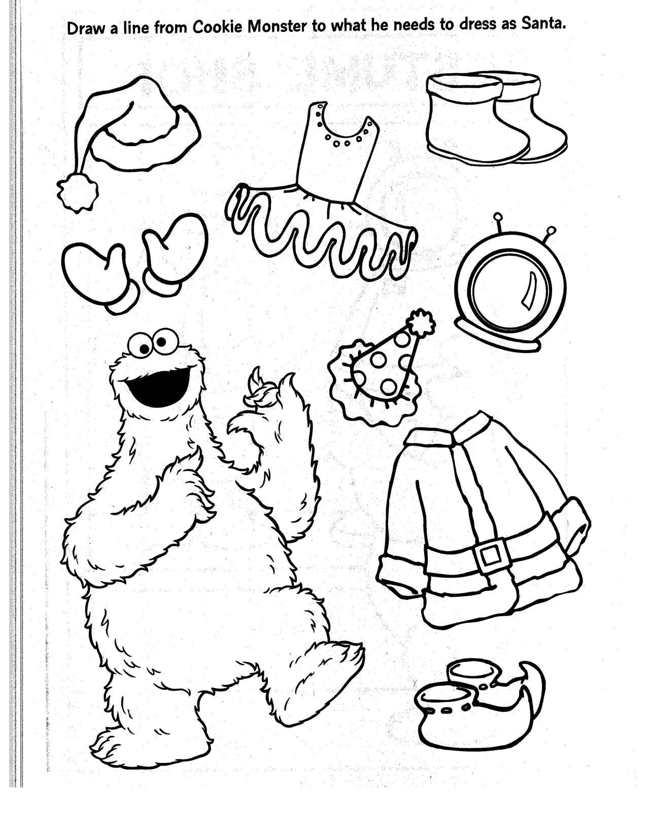 Asombroso Colorear Monstruo De Galleta De Elmo Composición - Dibujos ...